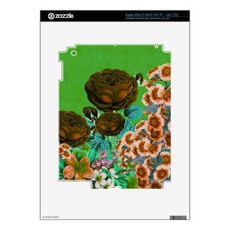 Jardín de rosas del vintage pegatinas skins para iPad 3