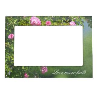 Jardín de rosas romántico marcos magneticos