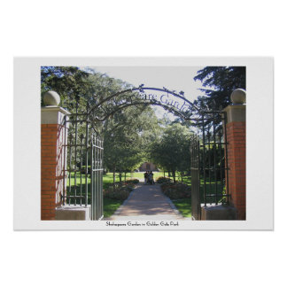 Jardín de Shakespeare en Golden Gate Park Póster