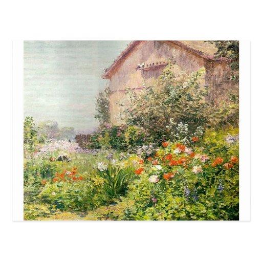 Jardín de Srta. Florencia Griswold Postal