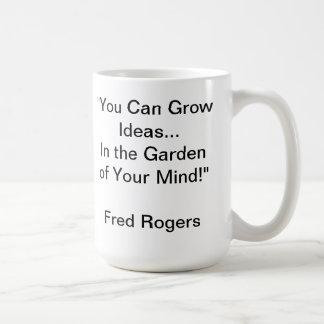 Jardín de su cita de la mente de Sr. Rogers Mug Taza Clásica