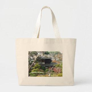 Jardín de té japonés bolsa tela grande