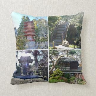 Jardín de té japonés cojin