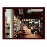 Jardín de té japonés, Coney Island, vintage 1912 Postal