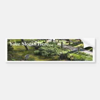 Jardín de té japonés en Golden Gate Park Pegatina De Parachoque