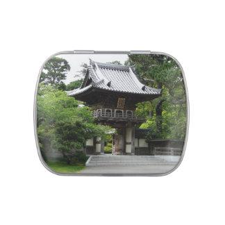 Jardín de té japonés en la fotografía de San Jarrones De Dulces