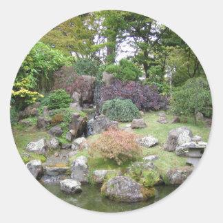 Jardín de té japonés etiquetas