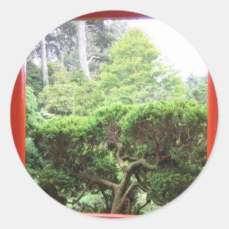 Jardín de té japonés etiqueta
