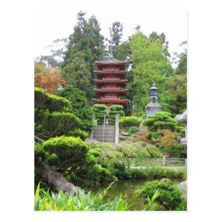 Jardín de té japonés postales