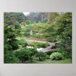 Jardín de té japonés poster