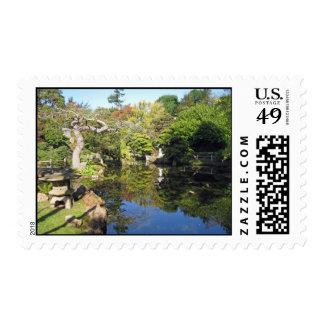 Jardín de té japonés sellos