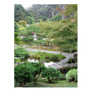 Jardín de té japonés postal