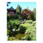 Jardín de té tarjetas postales