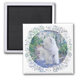 Jardín de Terrier blanco de montaña del oeste Imán De Nevera