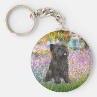 Jardín de Terrier de mojón (21 Brindle) - Llavero Redondo Tipo Pin