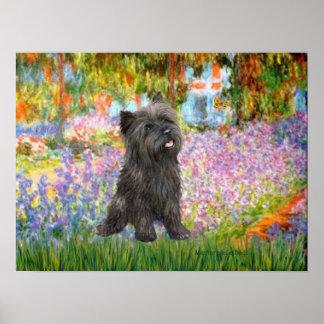 Jardín de Terrier de mojón (21 Brindle) - Posters