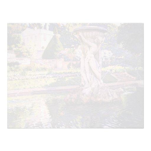 Jardín de Theo Rysselberghe- con el chalet y la fu Membretes Personalizados