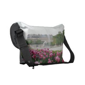 Jardín de Tuileries en la floración Bolsas Messenger