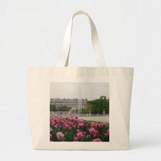 Jardín de Tuileries en la floración Bolsa Tela Grande