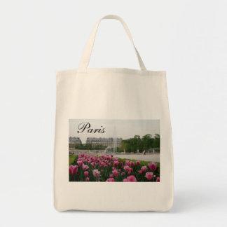 Jardín de Tuileries en la floración Bolsa Tela Para La Compra