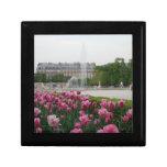Jardín de Tuileries en la floración Joyero Cuadrado Pequeño