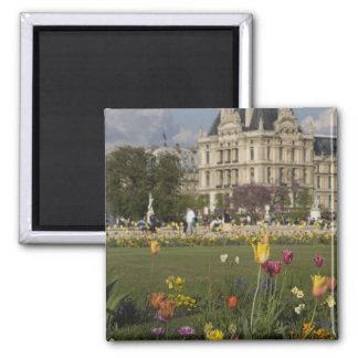 Jardín de Tuileries, Louvre, París, Francia Imán Cuadrado