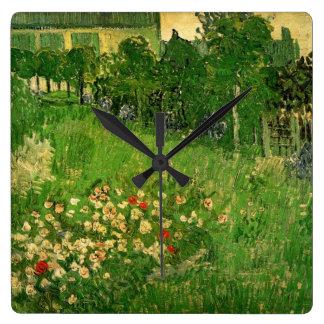 Jardín de Van Gogh Daubigny, bella arte del Reloj Cuadrado