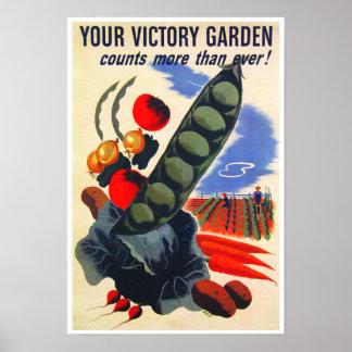 Jardín de victoria de WWII Póster