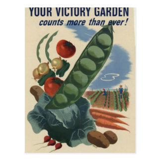 jardín de victoria del poster ww2 postal