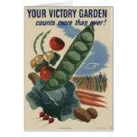 jardín de victoria del poster ww2 tarjeta de felicitación