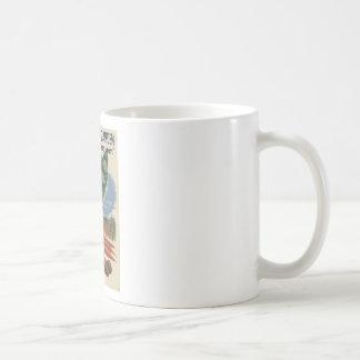 jardín de victoria del poster ww2 tazas de café