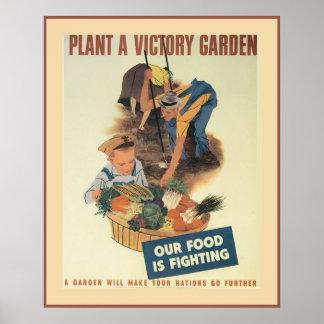 Jardín de victoria del vintage poster