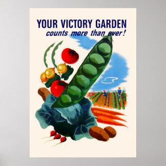 Jardín de victoria (grande) póster