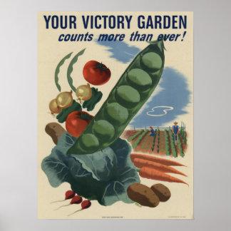 Jardín de victoria póster