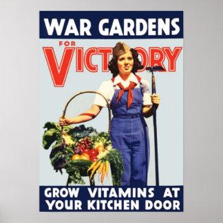 Jardín de victoria posters