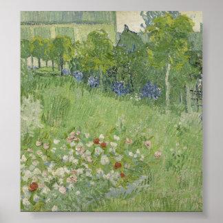 Jardín de Vincent van Gogh - de Daubigny Póster