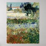 Jardín de Vincent van Gogh el | en la floración, Póster