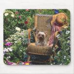 Jardín de Yorkshire Terrier Mousepad Alfombrilla De Raton
