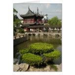 Jardín de Yuyan, Shangai, China Tarjeta De Felicitación