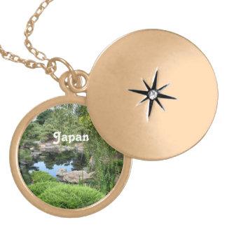 Jardín del agua de Japón Medallón
