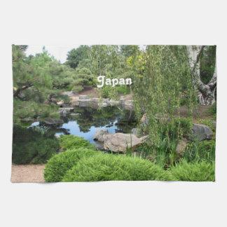 Jardín del agua de Japón Toallas