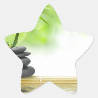 Jardín del agua de la tranquilidad del zen por pegatina en forma de estrella