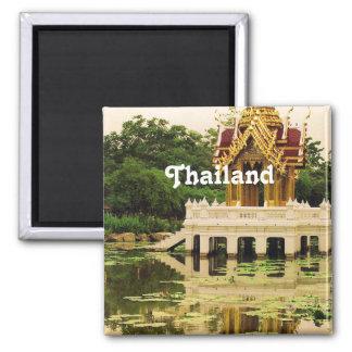 Jardín del agua de Tailandia Imán Cuadrado