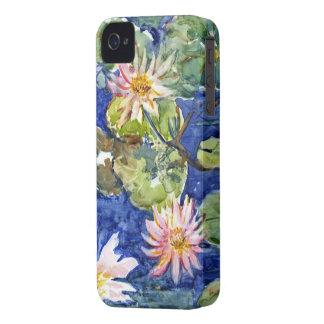 Jardín del agua en acuarela iPhone 4 protectores