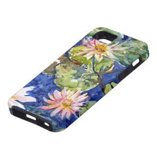Jardín del agua en acuarela iPhone 5 funda
