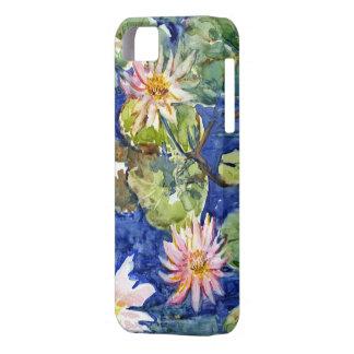 Jardín del agua en acuarela iPhone 5 fundas