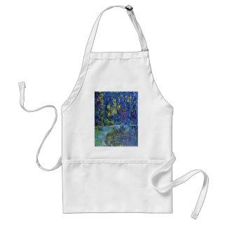 Jardín del agua en Giverny de Claude Monet Delantal