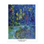 Jardín del agua en Giverny de Claude Monet Postal