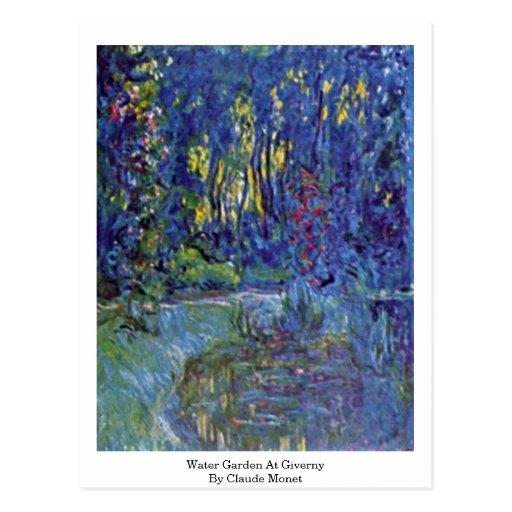 Jardín del agua en Giverny de Claude Monet Tarjetas Postales