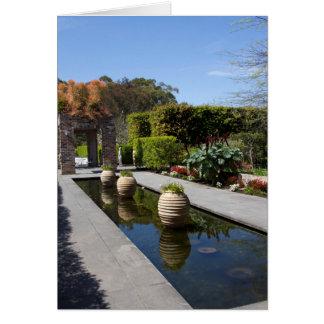 jardín del agua tarjeta de felicitación